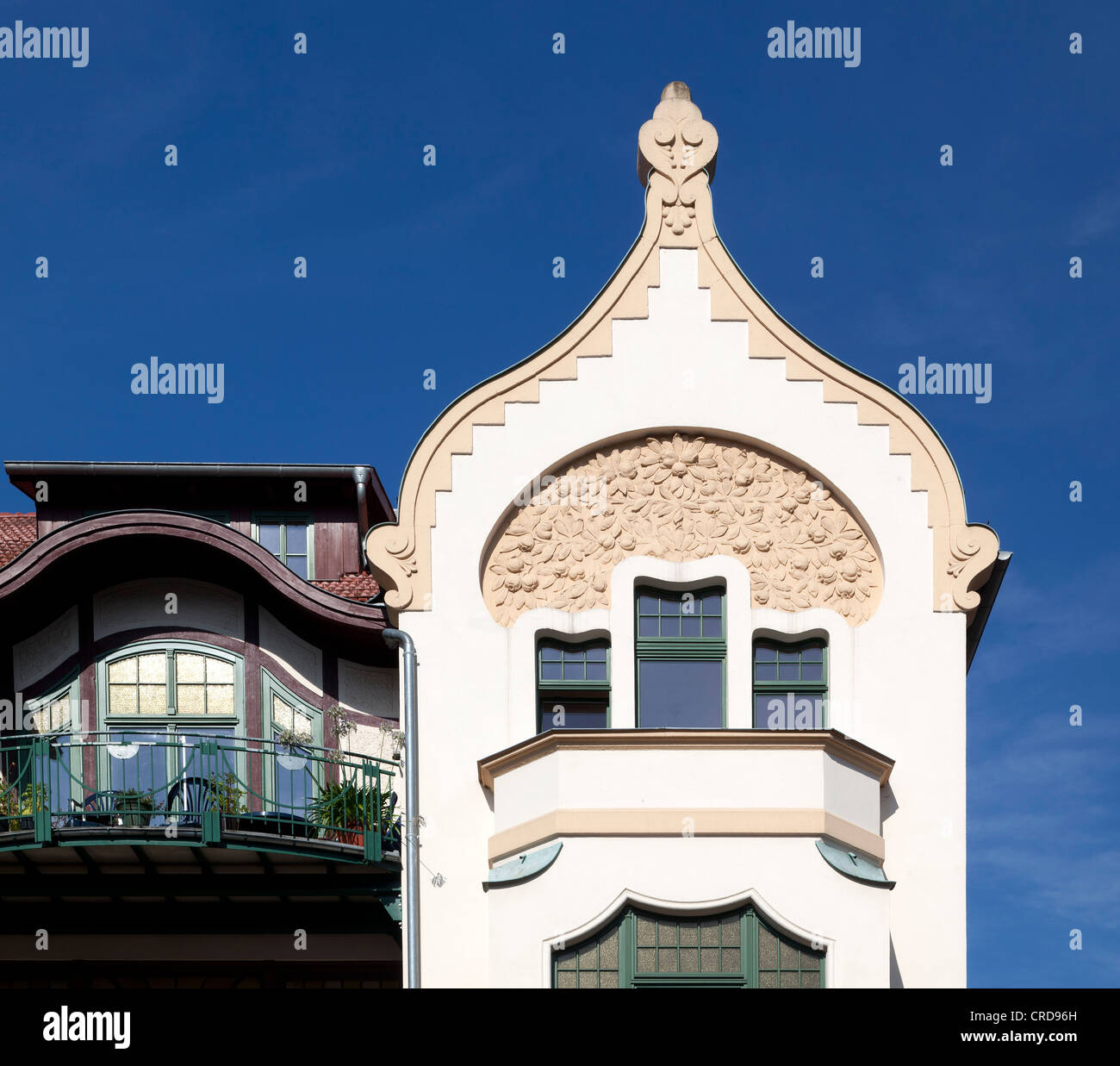 Townhouse, Art Nouveau, Eisenach, Thuringia, Germany, Europe, PublicGround - Stock Image
