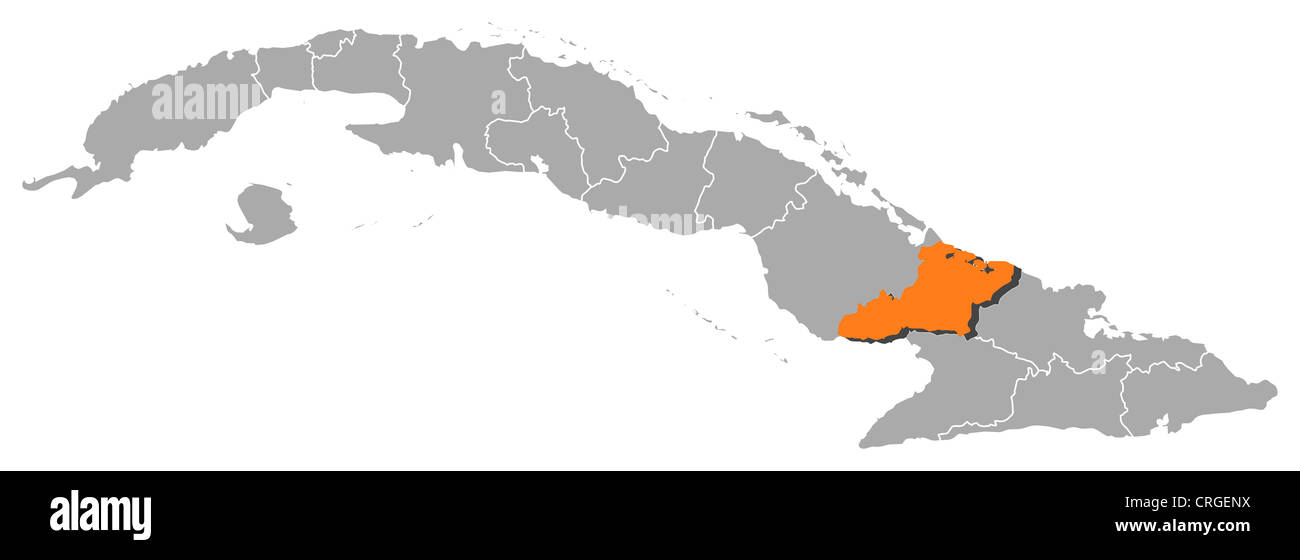 Political map of cuba with the several provinces where las tunas is political map of cuba with the several provinces where las tunas is highlighted gumiabroncs Image collections