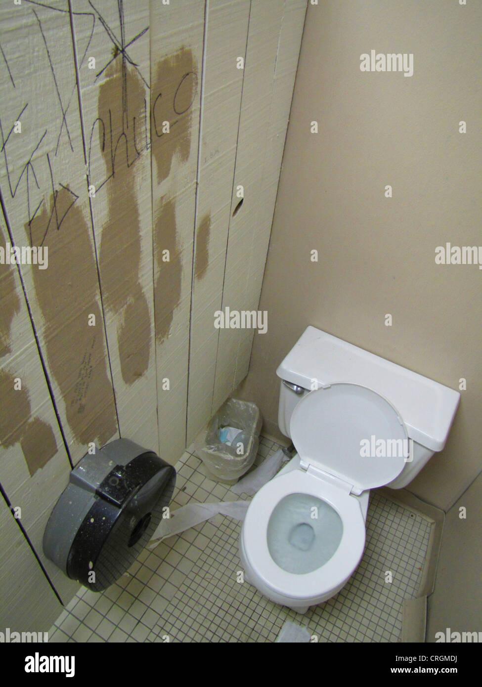 smeared toilet, USA, New Mexico, Whites City Stock Photo: 48925118 ...