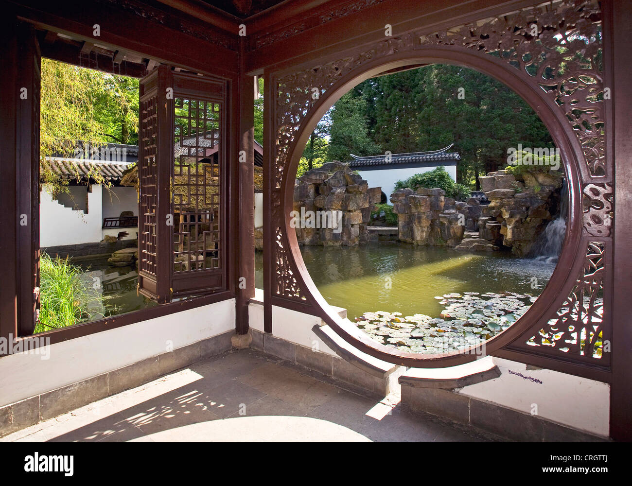 Chinese garden bochum germany ruhr stock photos chinese for Chinese in the area