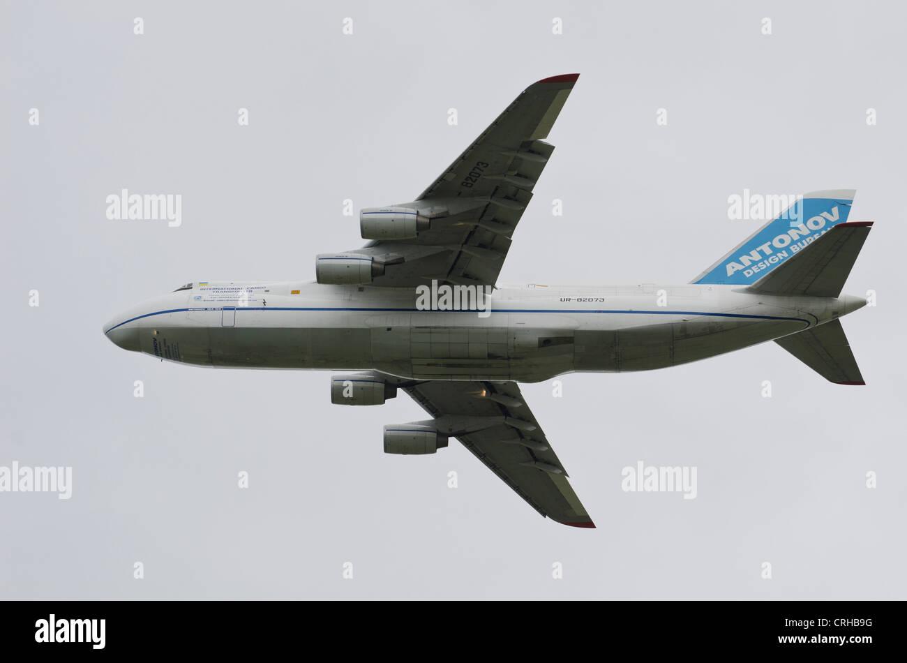 Antonov An-124 - Ruslan International transport aircraft - Stock Image