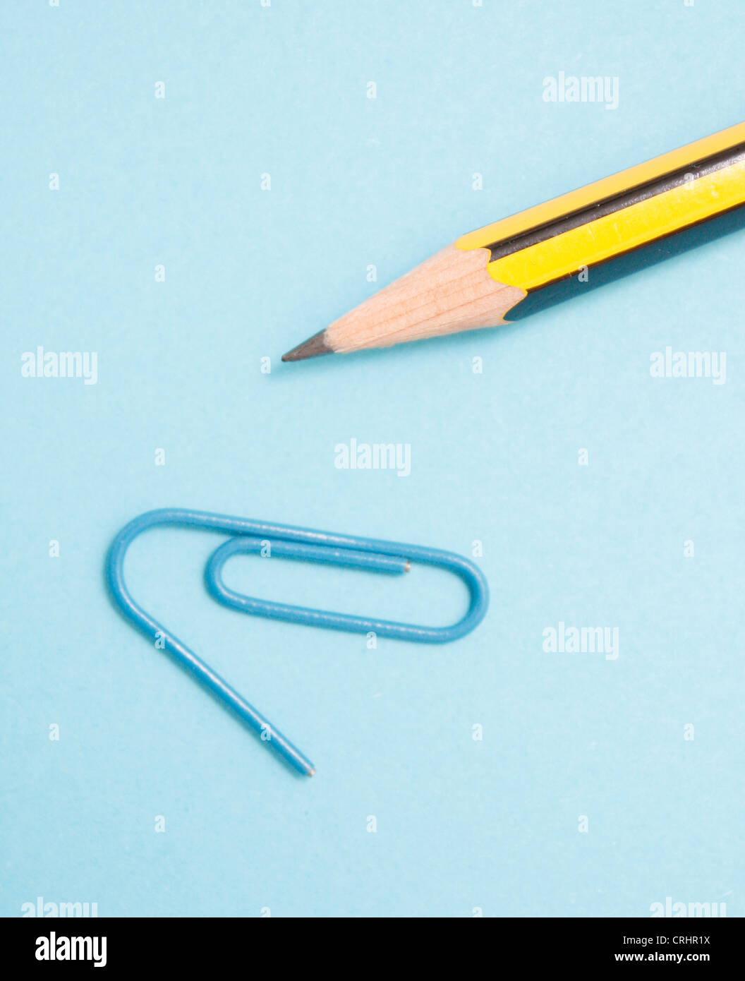 Pencil and clip - Stock Image