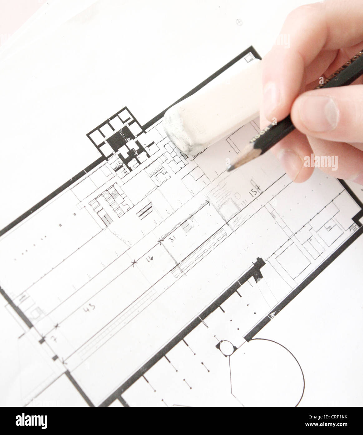 Architectural plans - Stock Image
