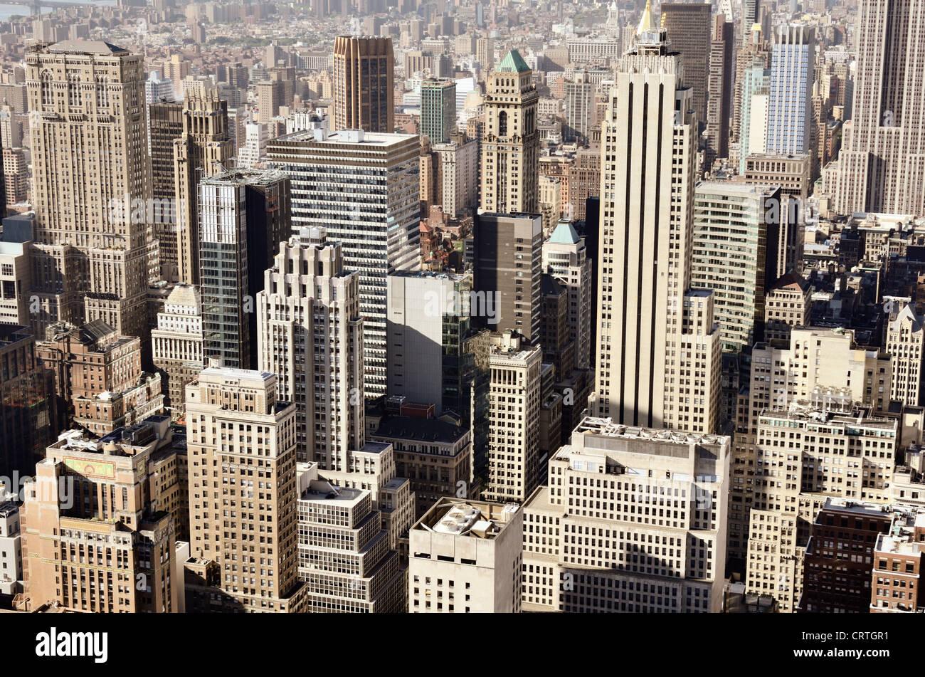 Skyline of downtown New York, New York, USA - Stock Image