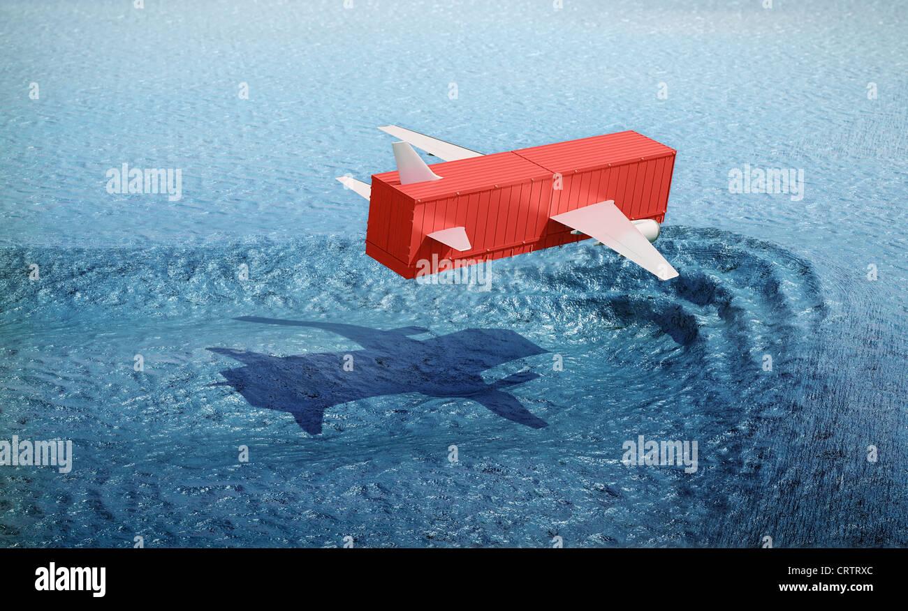 Air cargo concept illustration - Stock Image