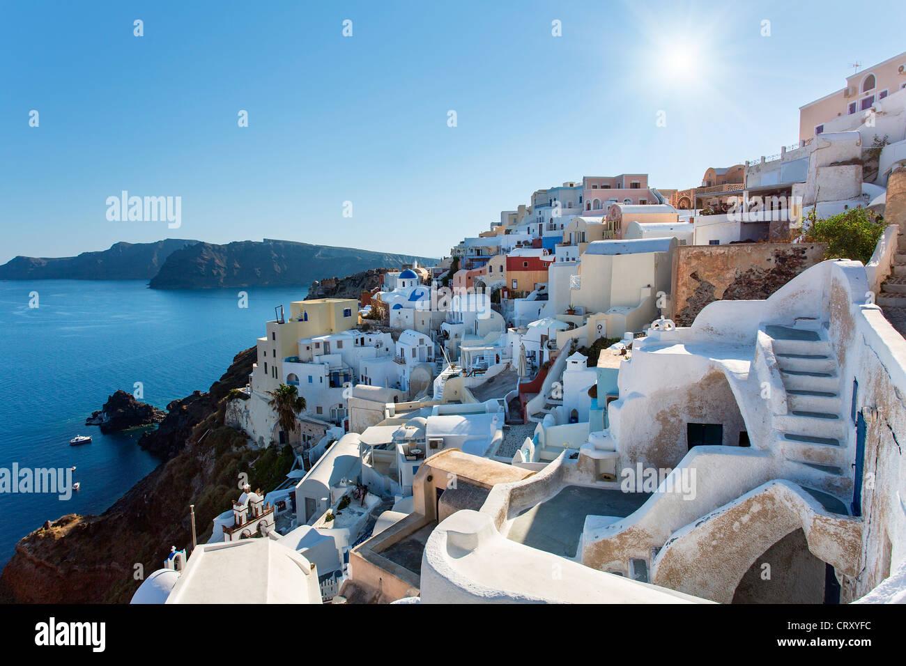 Santorini, Oia, Whitewashed House - Stock Image