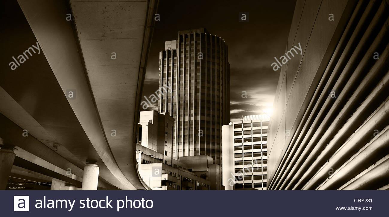 city at night - Stock Image