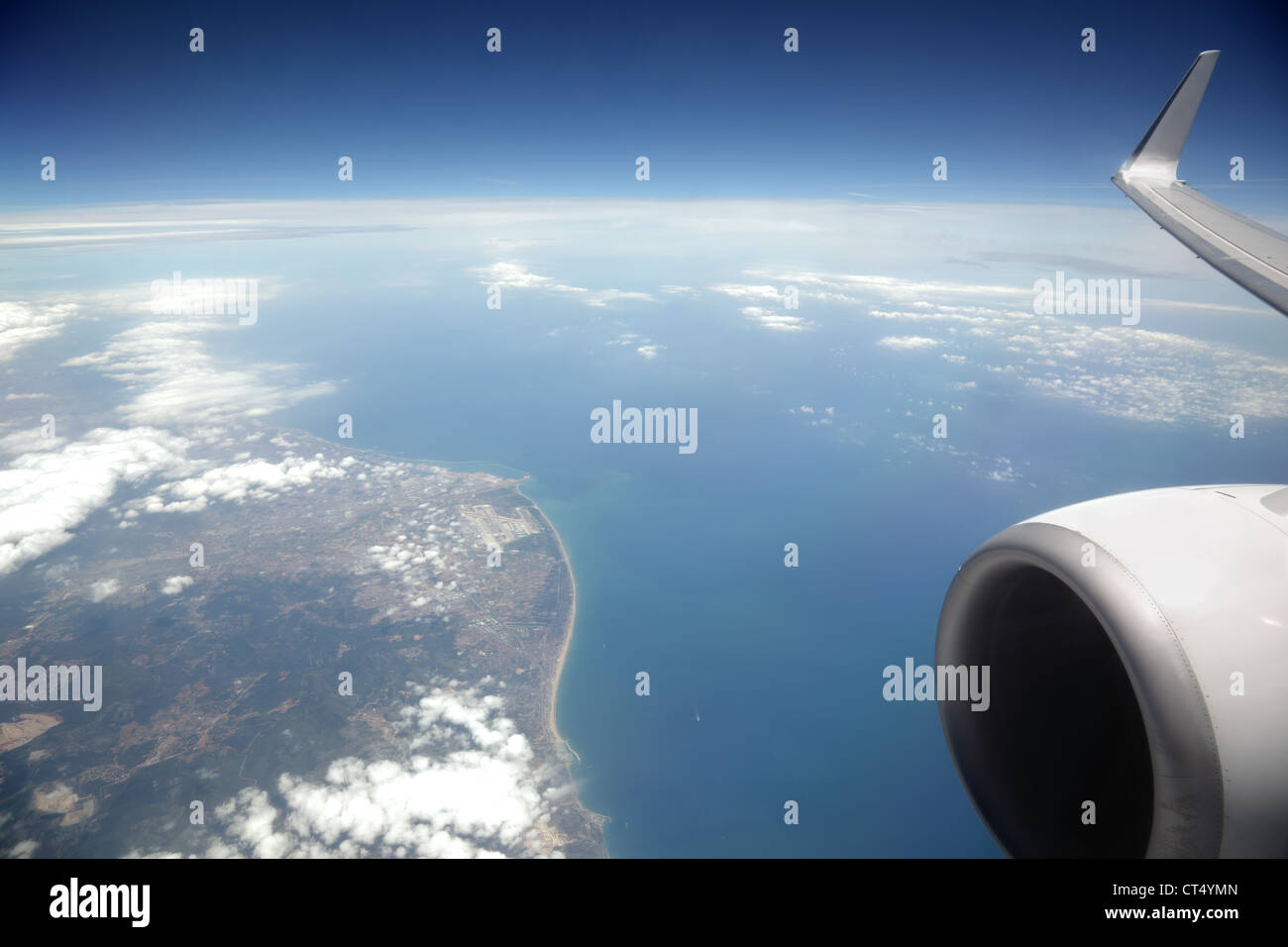 Airplane window - Stock Image