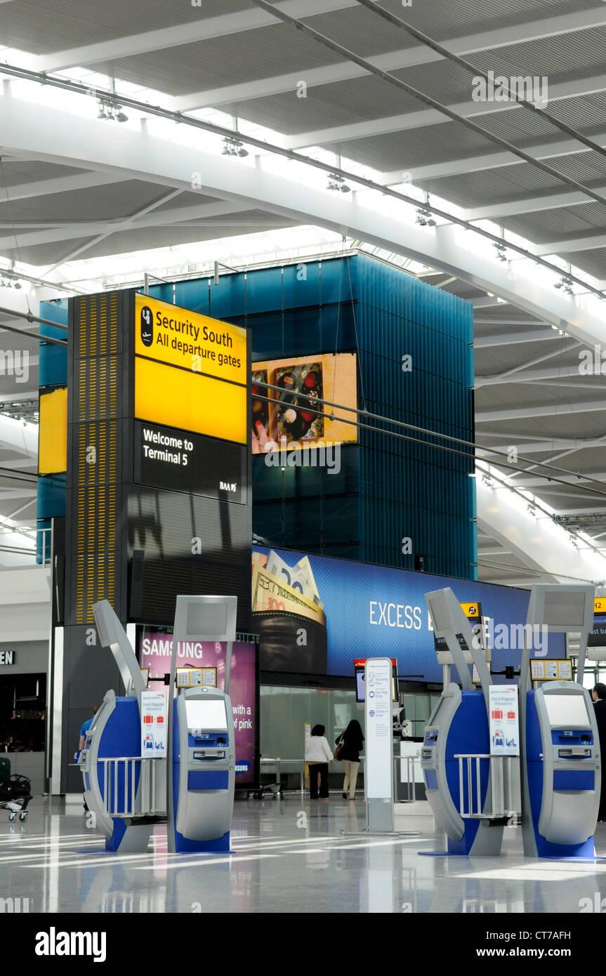 London Heathrow Terminal 5 - Stock Image