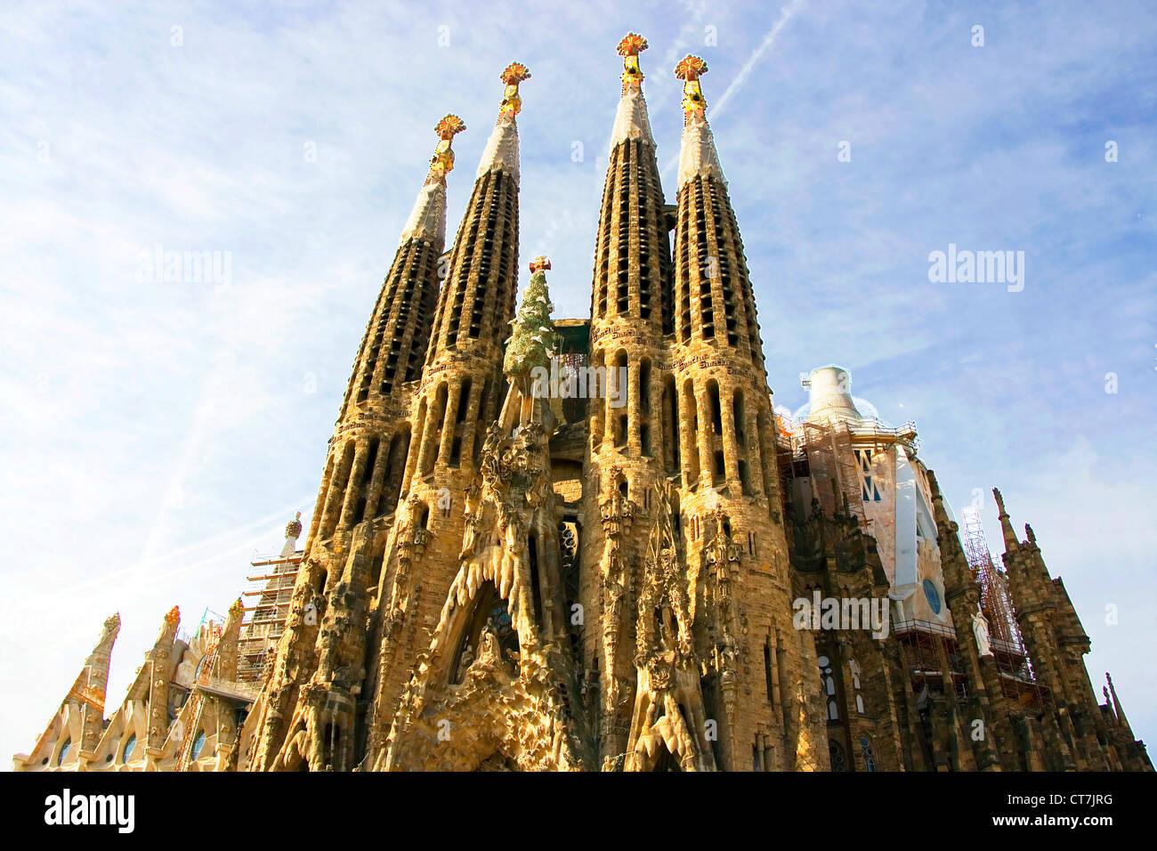 bf737d2412 Sagrada Familia by Antoni Gaudi in Barcelona Spain Stock Photo ...