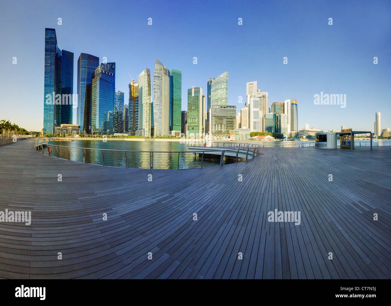 South East Asia, Singapore, Financial Centre and Marina Bay - Stock Image