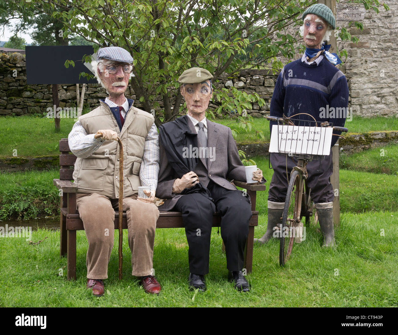 0cabef90a27 Last of the Summer Wine characters re-created as an entry in a scarecrow  competition at Bellerby near Leyburn in North Yorkshire