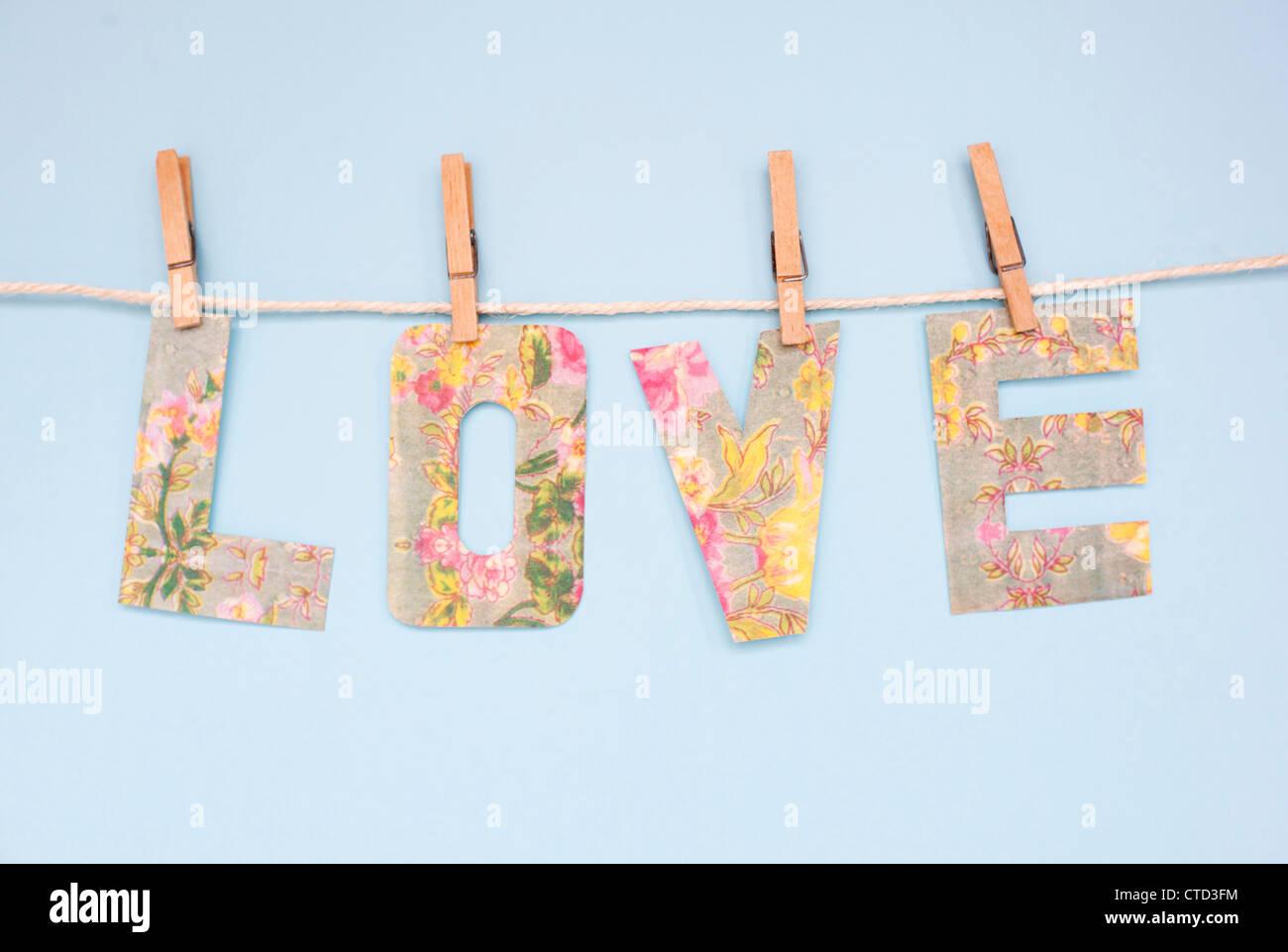 Love banner - Stock Image
