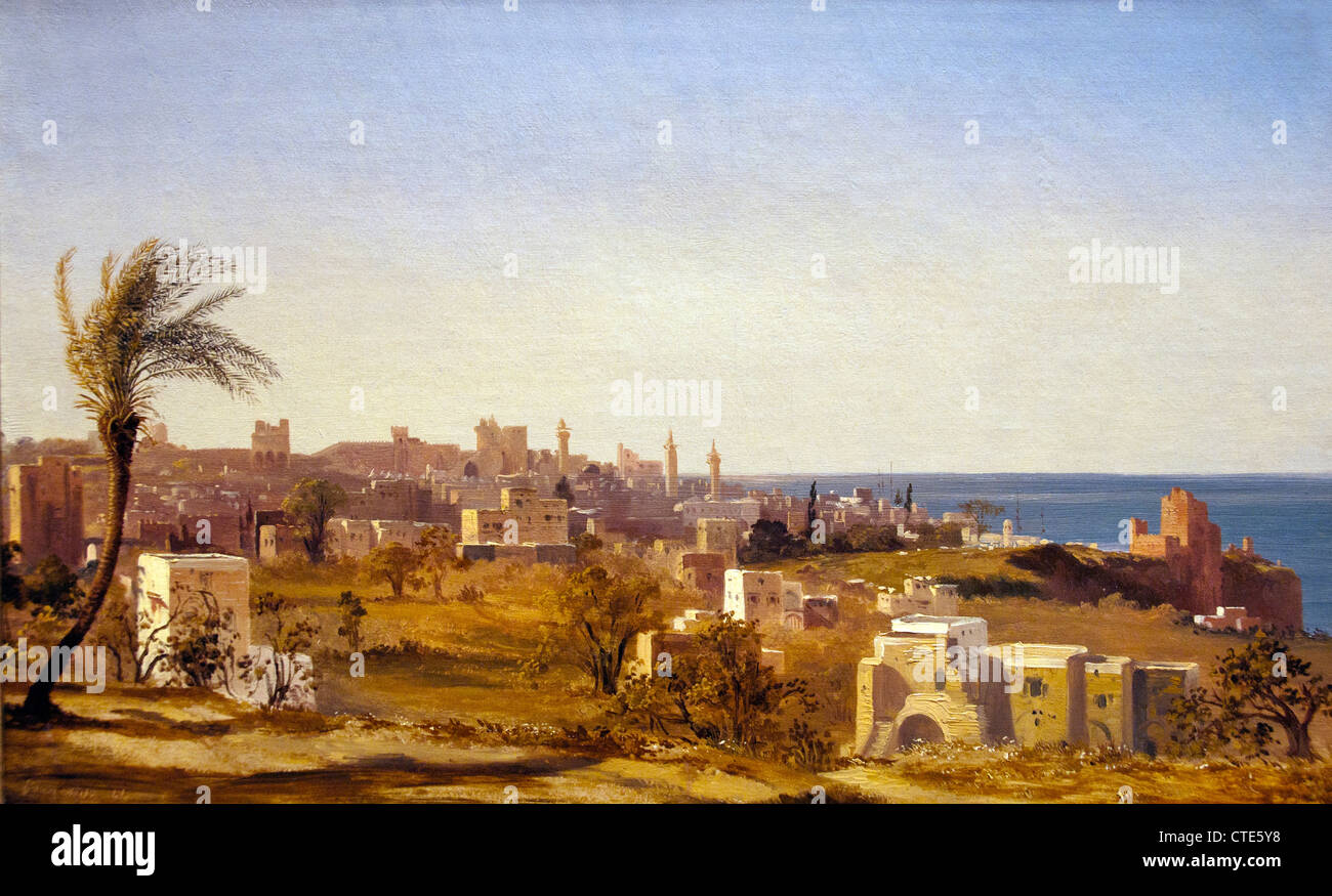 View of Beirut 1844 by Jules Coignet  1798–1860  French France - Stock Image