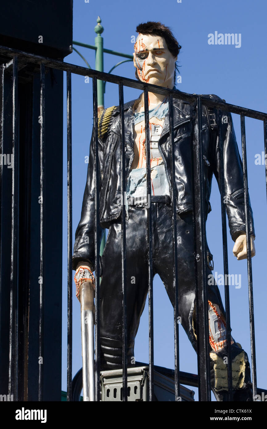 Life size model of the Terminator - Stock Image