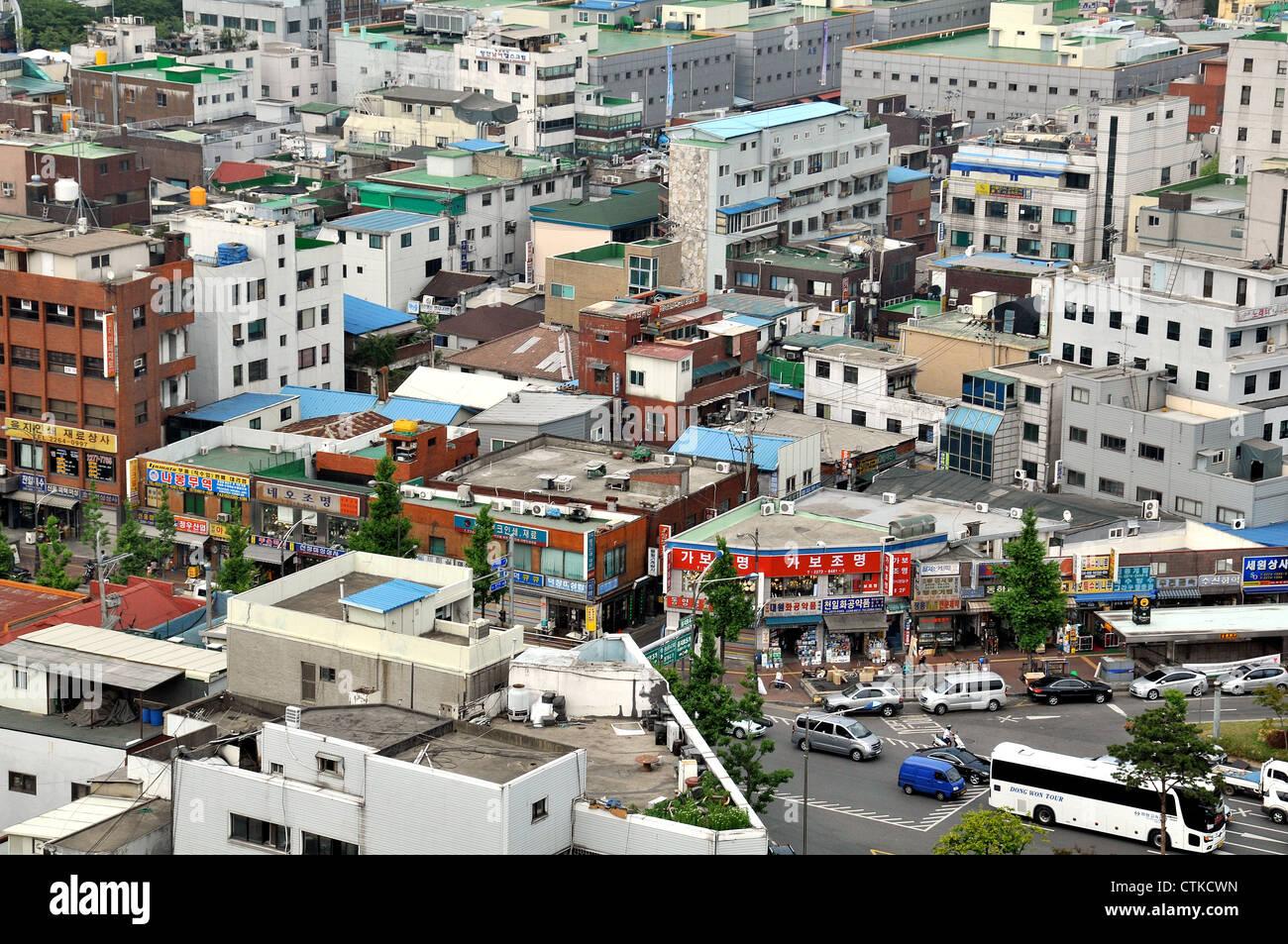 aerial view of Seoul city South Korea Asia - Stock Image