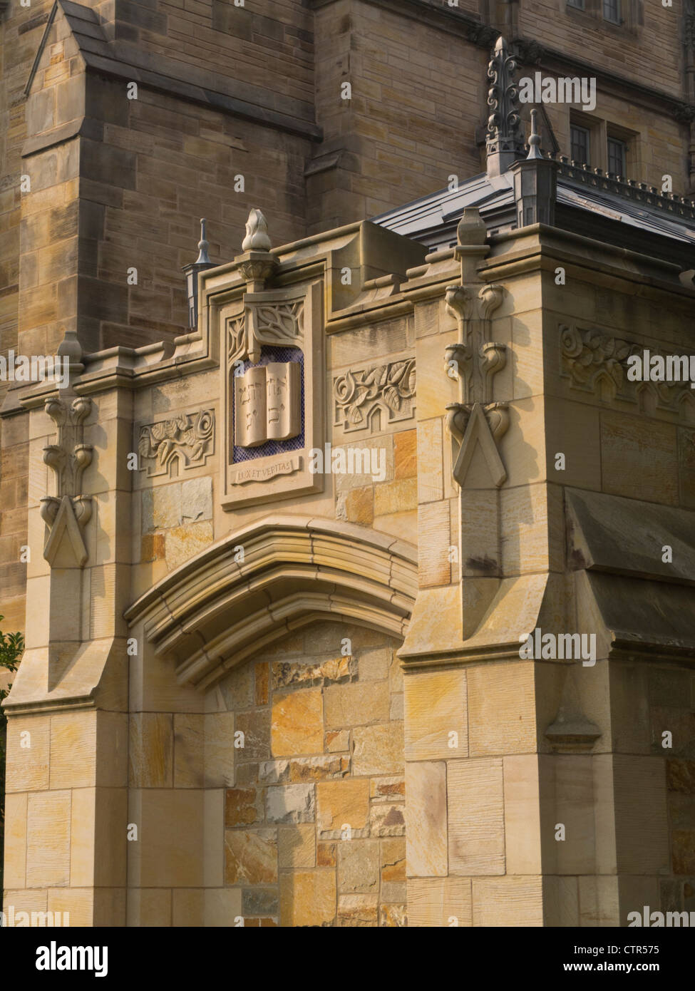 Exterior of Bass Library at Yale New Haven Stock Photo