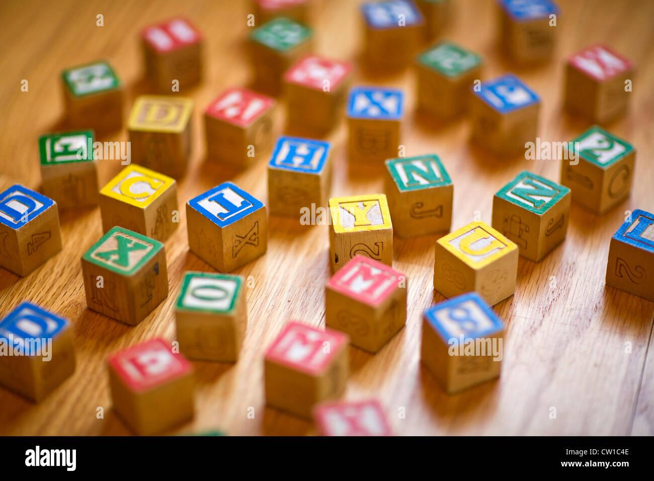 Still Life of Building Blocks - Stock Image