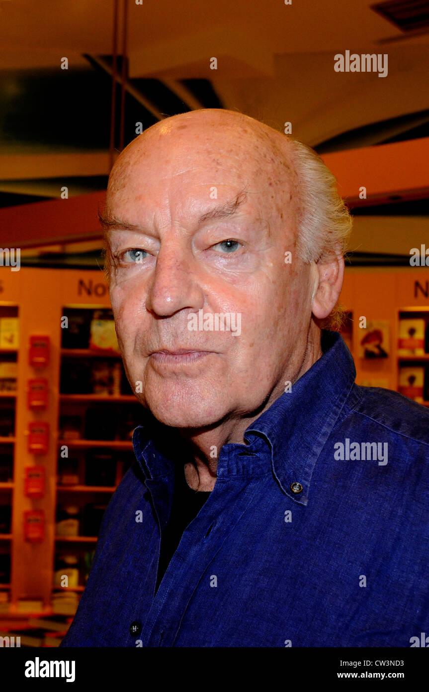 Eduardo Galeano the journalist and writer of Montevideo Uruguay is visiting Barcelona. - Stock Image