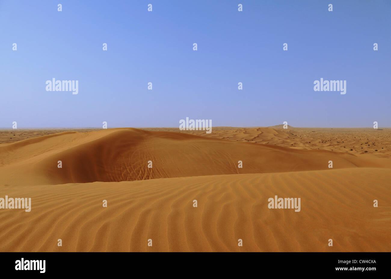 3520. Desert view, Desert area, Dubai, UAE. - Stock Image