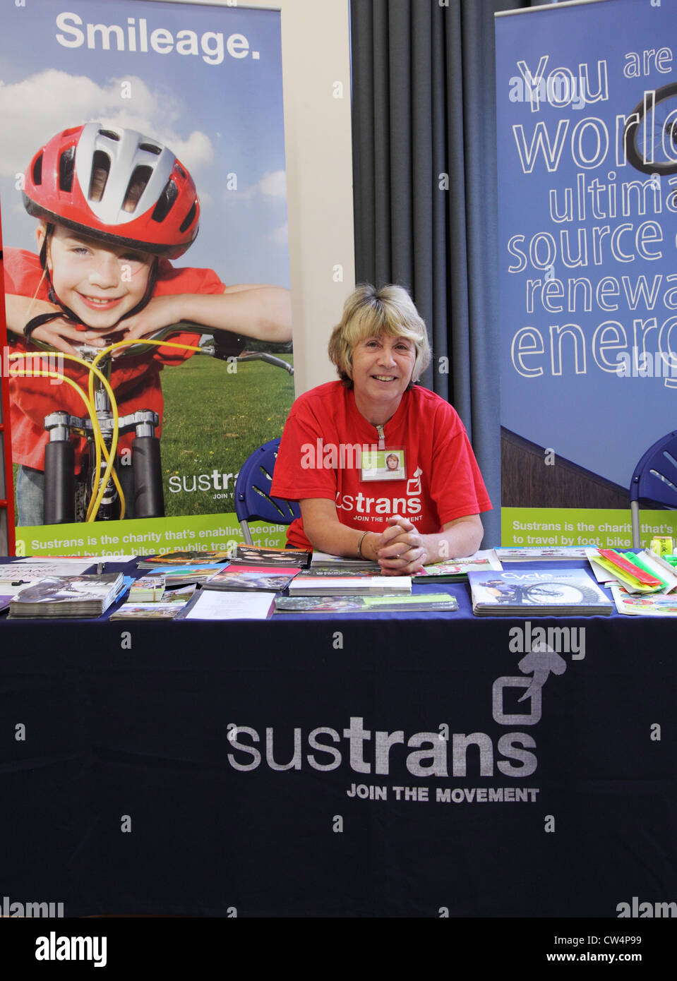 smiling-sustrans-woman-volunteer-sitting