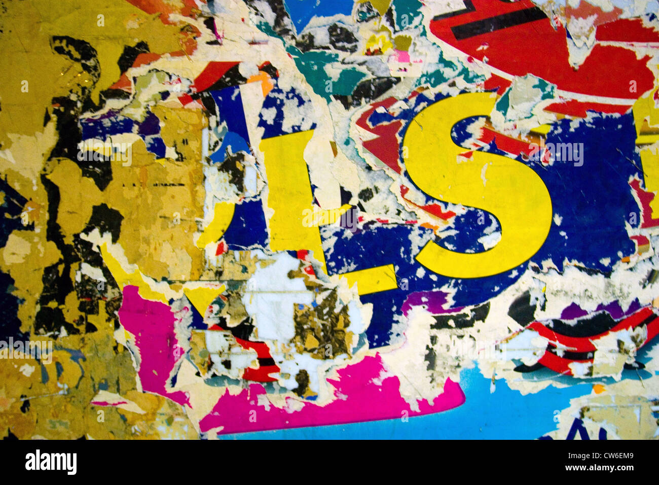 Textures on a Paris subway wall., France, Paris Stock Photo ...