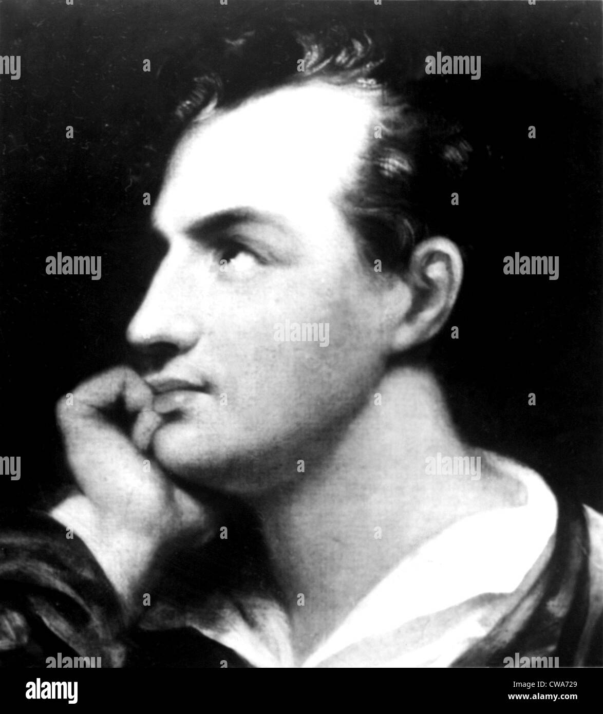 George Gordon Byron (Lord Byron). Courtesy: CSU Archives / Everett Collection - Stock Image
