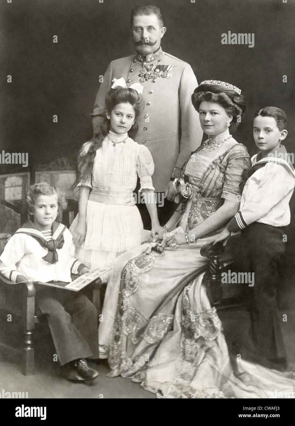 ARCHDUKE FRANZ FERDINAND, and family, 1911. Courtesy: CSU Archives / Everett Collection - Stock Image