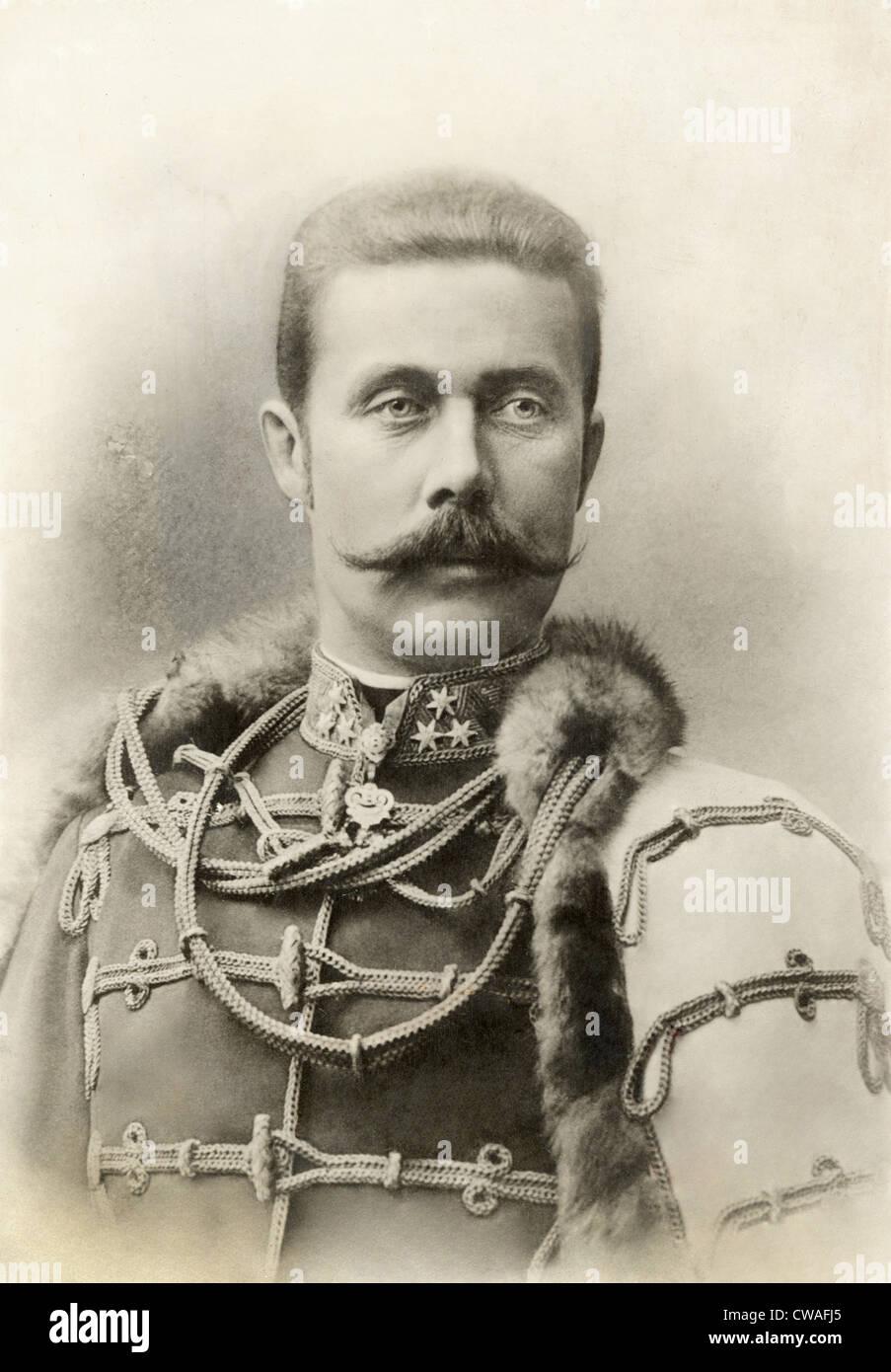 ARCHDUKE FRANZ FERDINAND, 1912. Courtesy: CSU Archives / Everett Collection - Stock Image