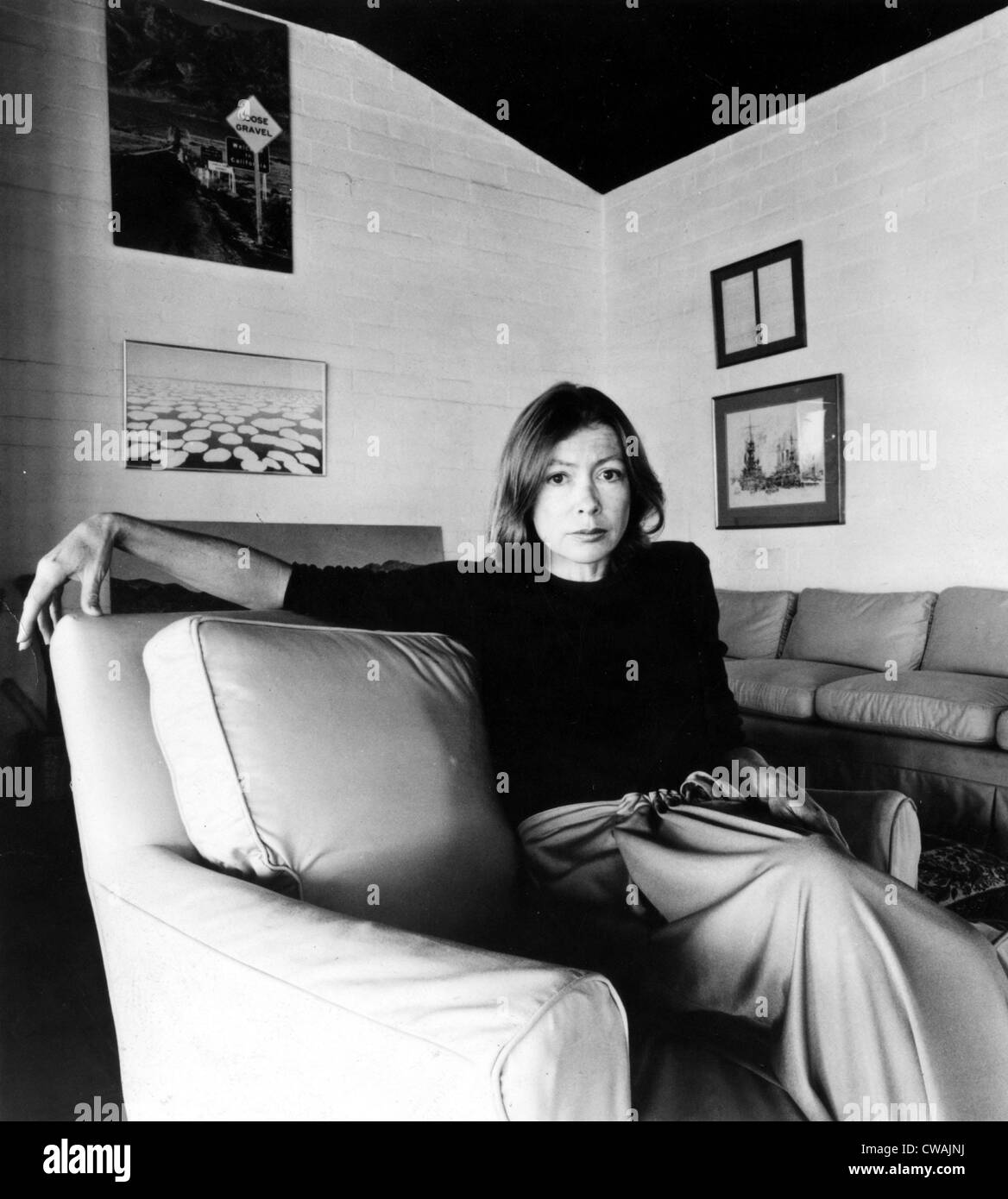 Joan Didion, circa 1977. Courtesy: CSU Archives / Everett Collection Stock Photo