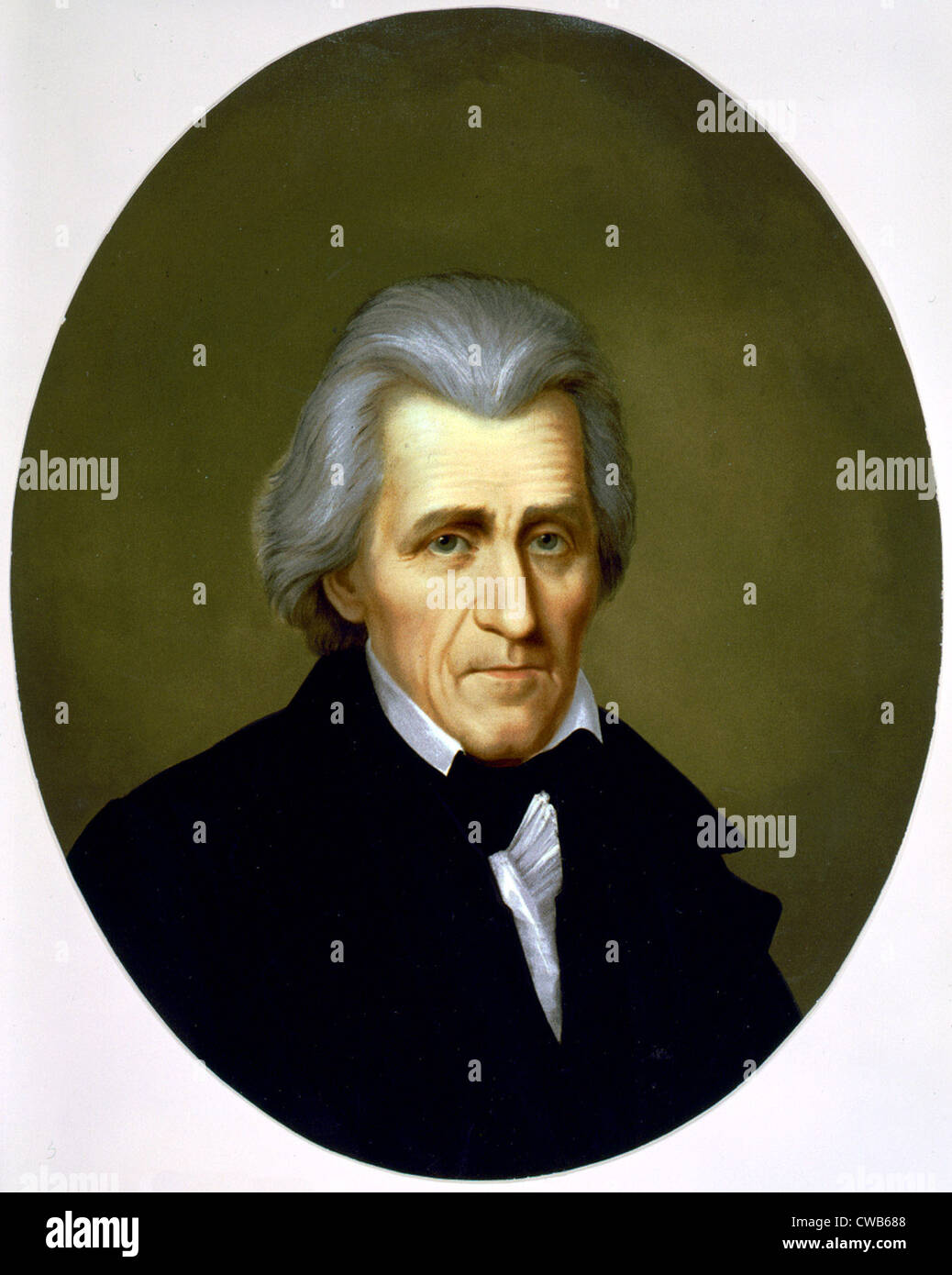 Andrew Jackson, chromolithograph ca. late 19th century - Stock Image