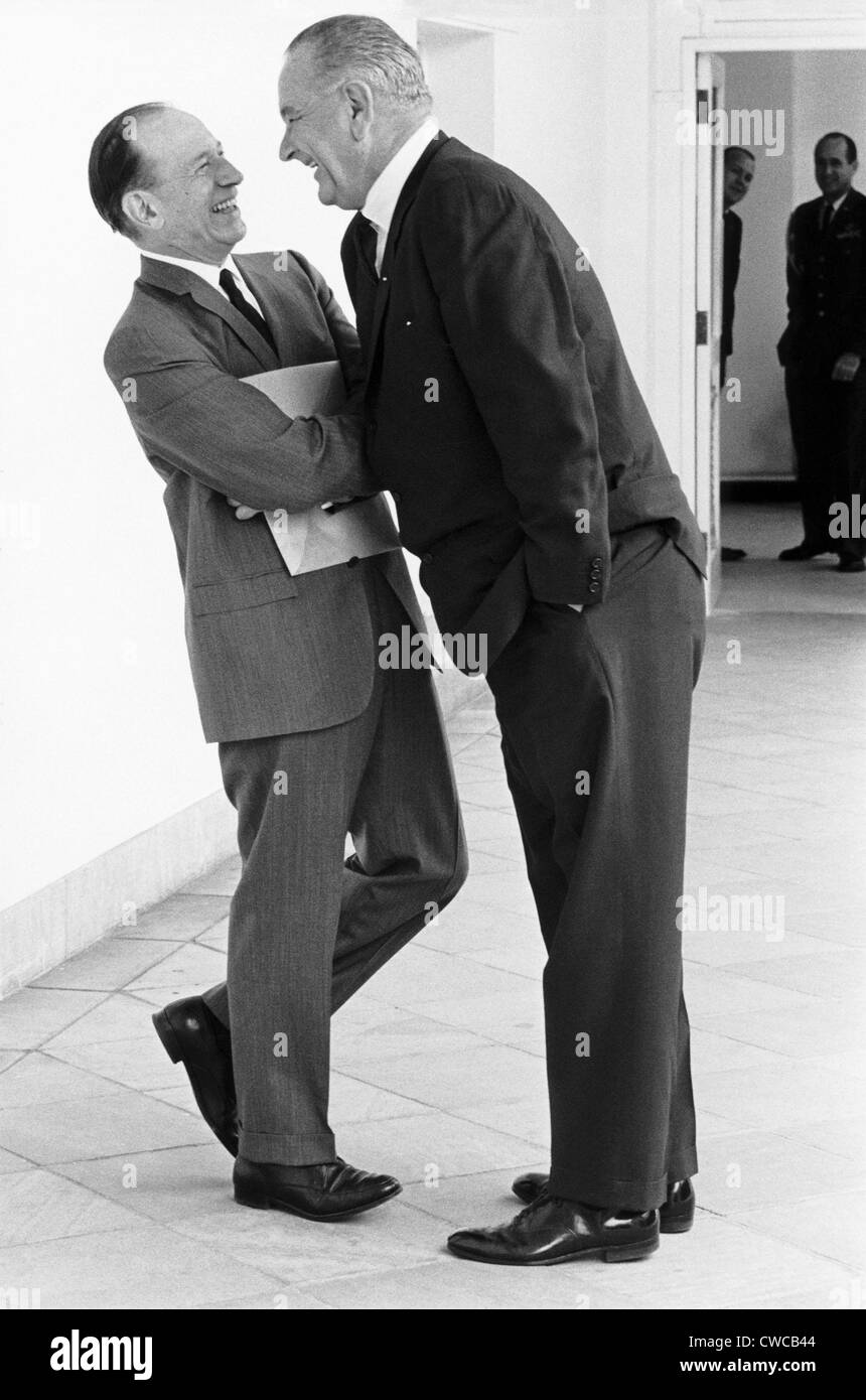 president lyndon johnson bends into the personal space of his loyal