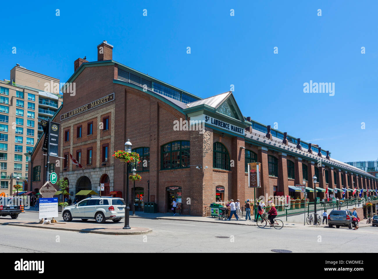 Exterior of St Lawrence Market looking towards downtown, Toronto, Ontario, Canada - Stock Image