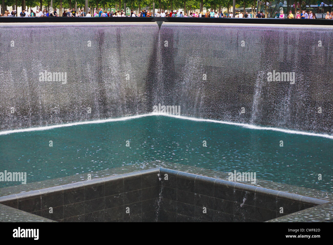 The National September 11 Memorial, New York City, designed by Arad and Walker, opened on 10th anniversary of attacks - Stock Image