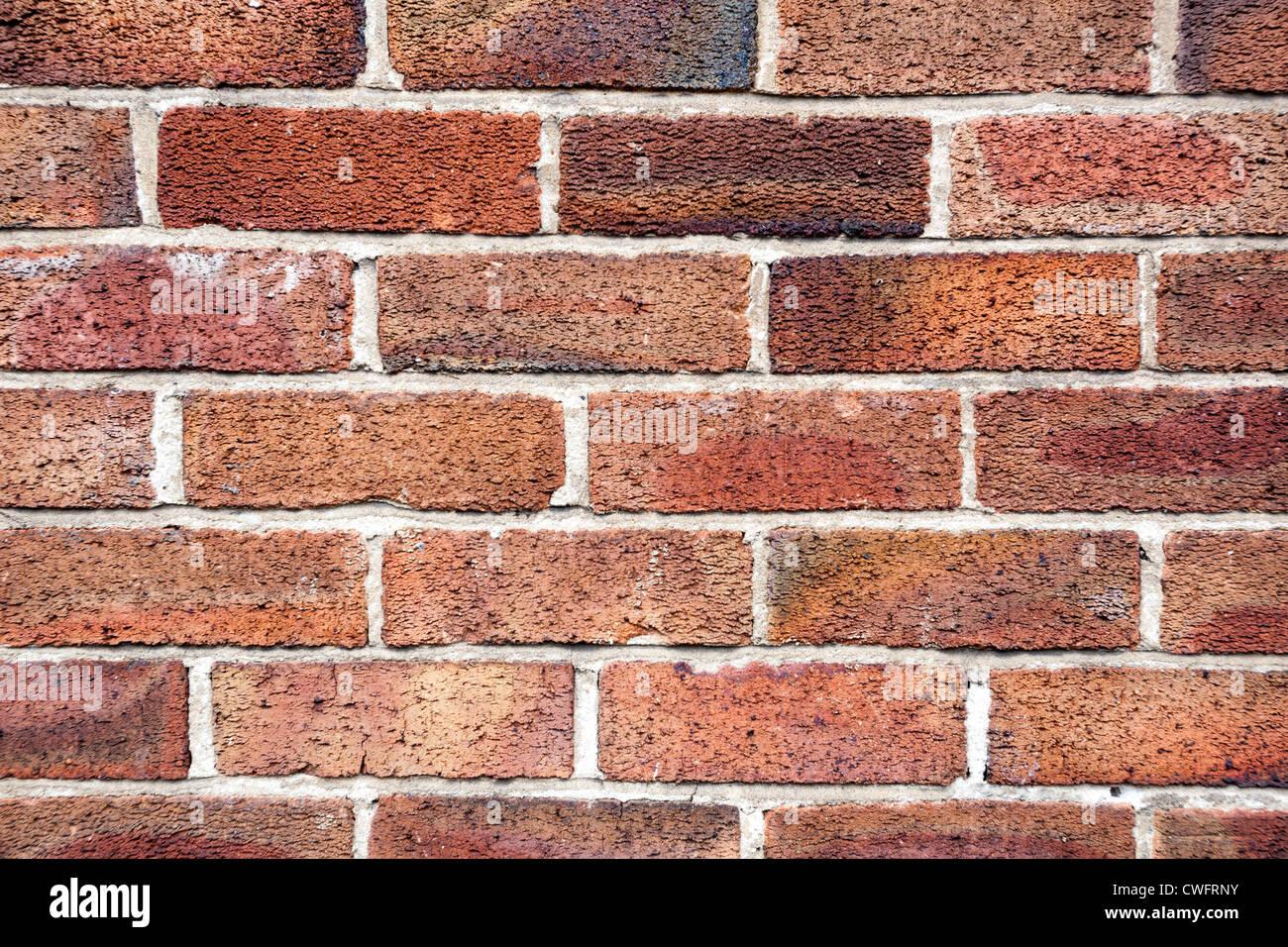 Red brick wall. - Stock Image