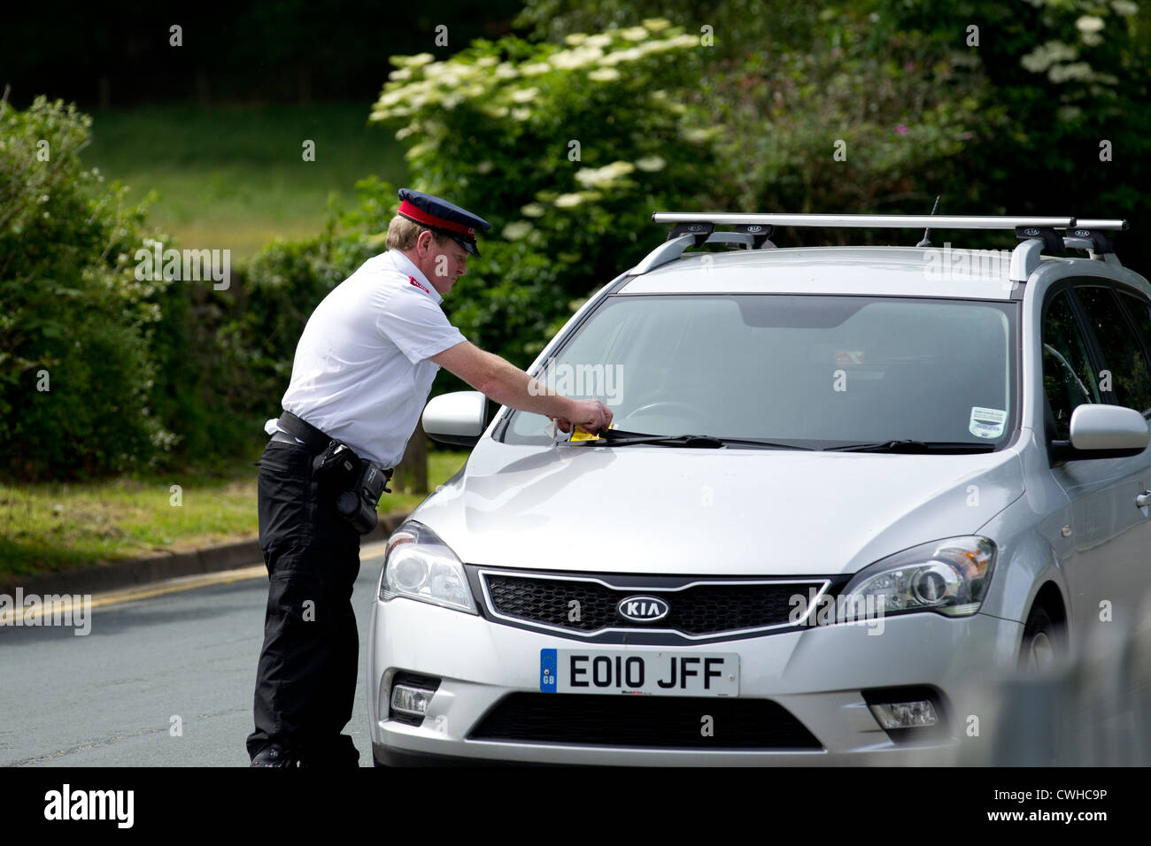Traffic Warden Civil Enforcement Officer Parking Attendant Stock Photo