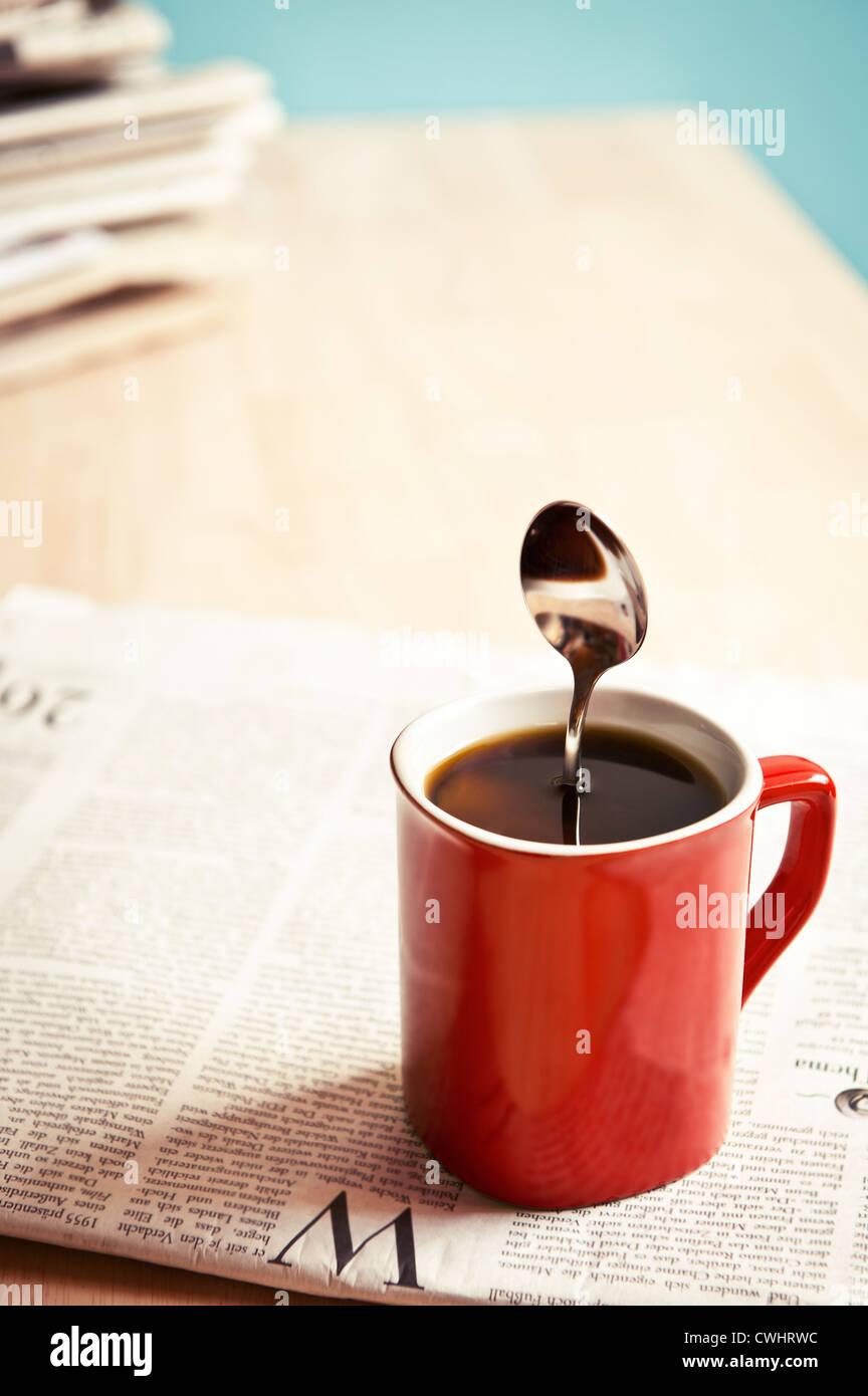 humor,bizarre,coffee,coffee cup - Stock Image