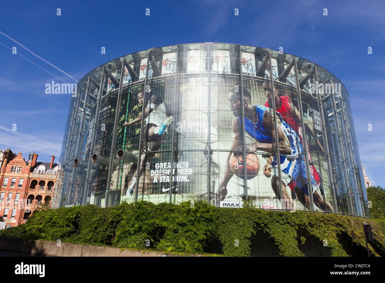 The London BFI Imax building, London, England, UK - Stock Image
