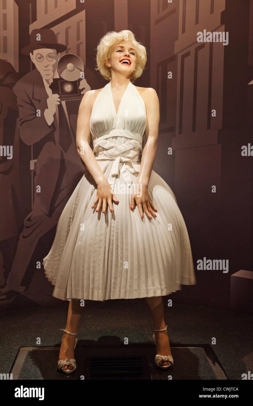 England, London, Madame Tussauds, Waxwork Display of Marilyn Monroe - Stock Image