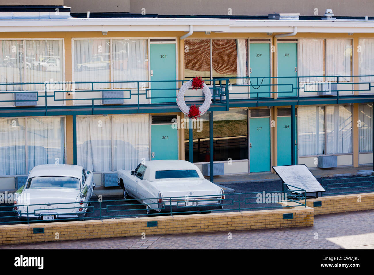 Lorraine Motel Room 306 Martin Luther King Assassinated Now Stock