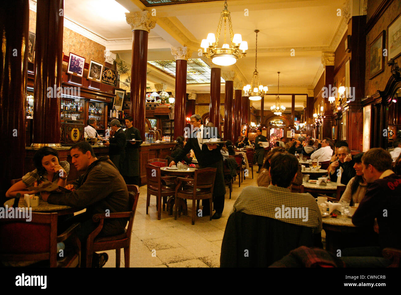 Cafe Tortoni, Buenos Aires, Argentina. - Stock Image