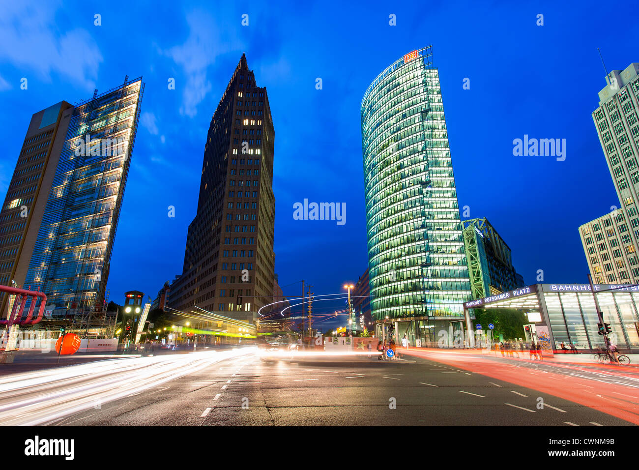 Europe, Germany, Berlin, Skyscrapers at Potsdamer Platz - Stock Image