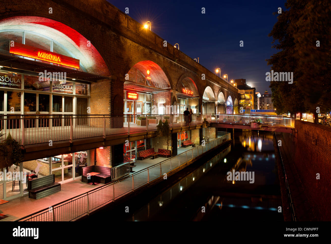 The Nightlife Of The Bars And Restaurants Of Deansgate Locks Arches