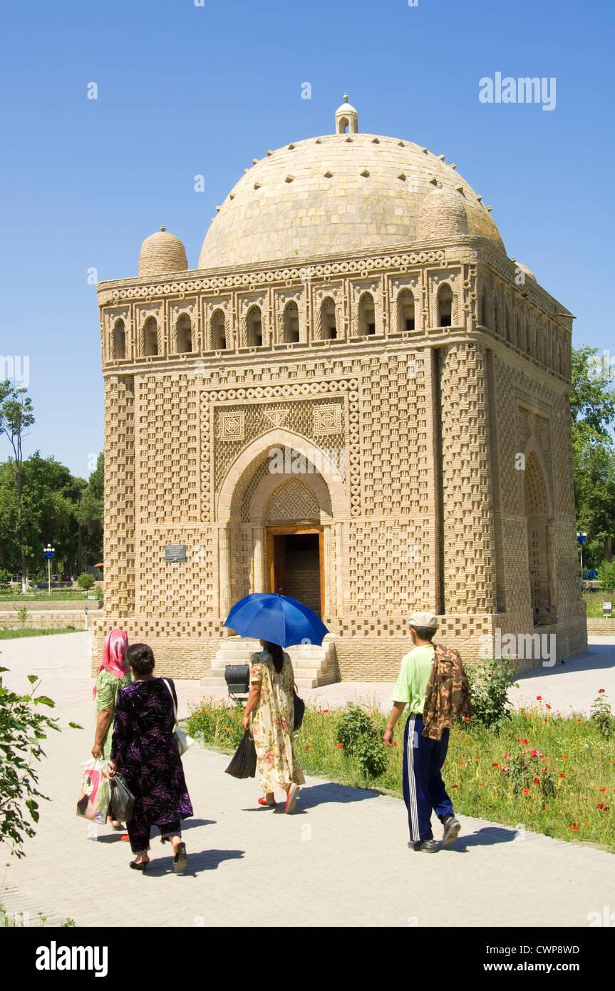 Ismail Samani mausoleum (9th -10th century), Bukhara, Uzbekistan Stock Photo