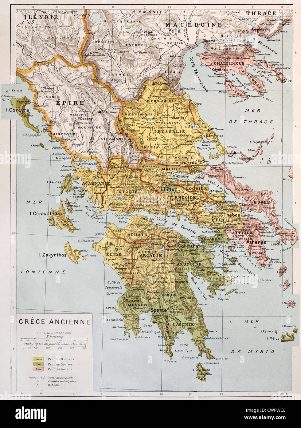 Old map of ancient greece stock photo 50290030 alamy old map of ancient greece gumiabroncs Images