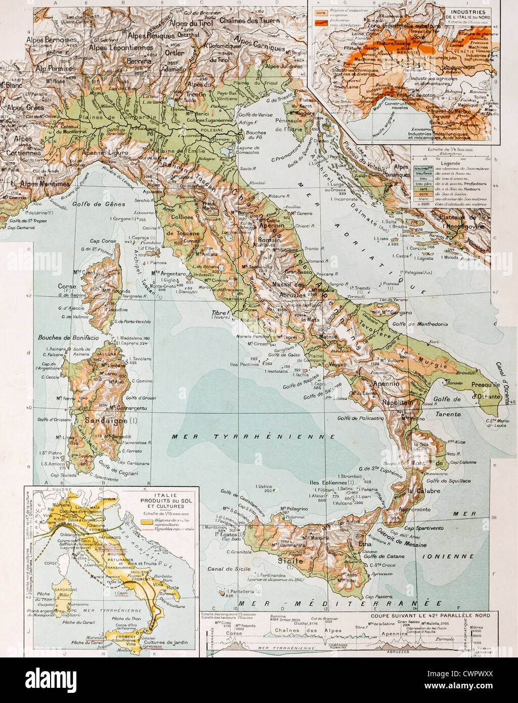 Old Map Of Sardinia Stock Photos Old Map Of Sardinia Stock Images