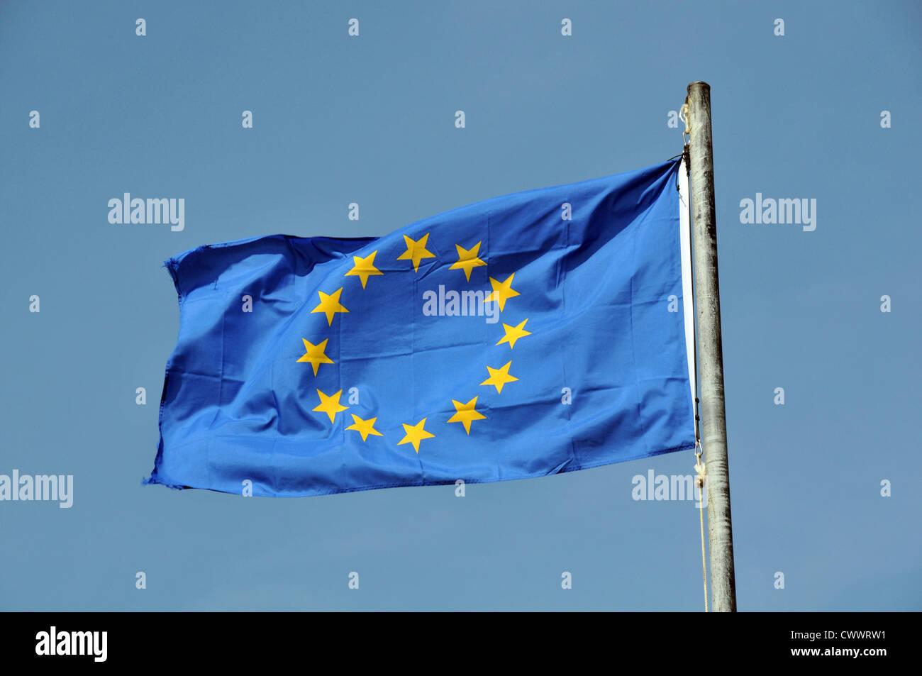EEC flag in blue sky - Stock Image