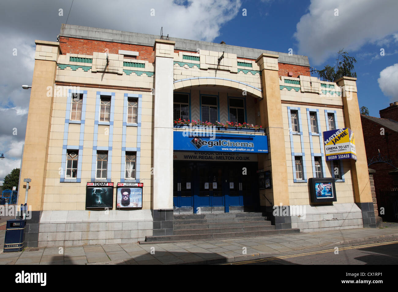The Regal Cinema, Melton Mowbray, Leicestershire, England, U.K. - Stock Image