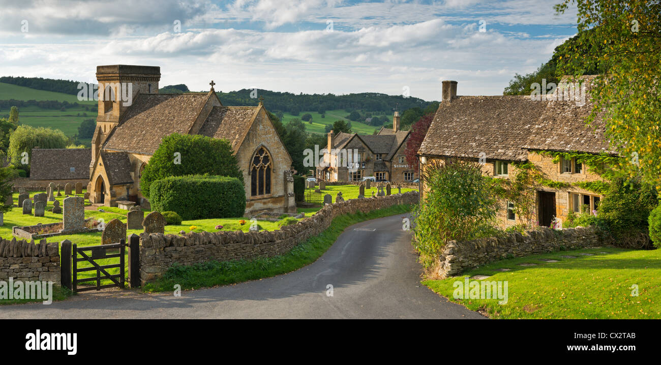 Picturesque Snowshill church and village, Cotswolds, Gloucestershire, England. September 2012. Stock Photo