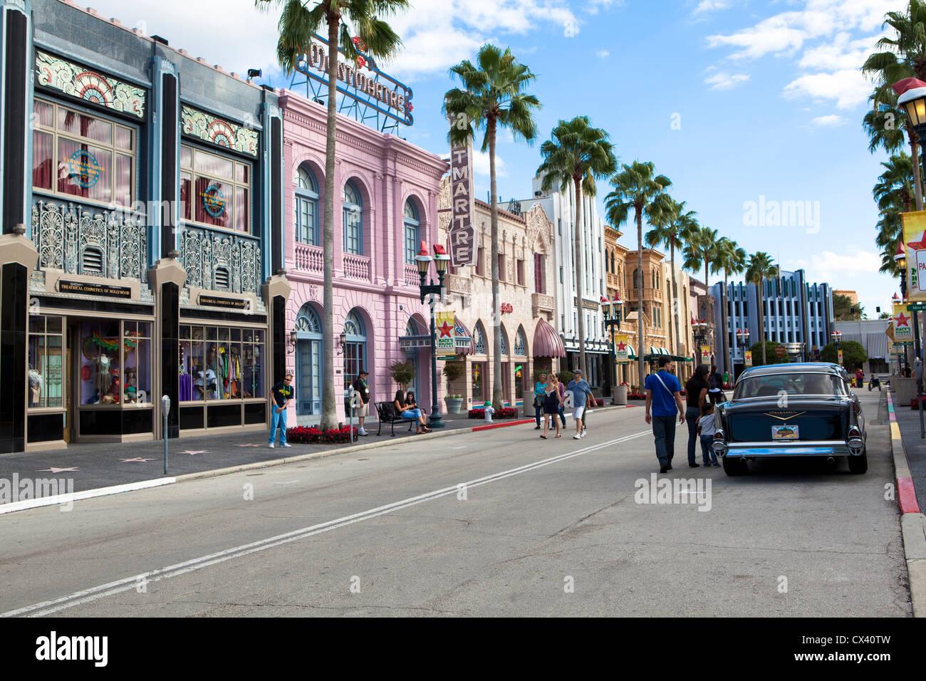 Universal Studios theme park Orlando Florida USA - Stock Image